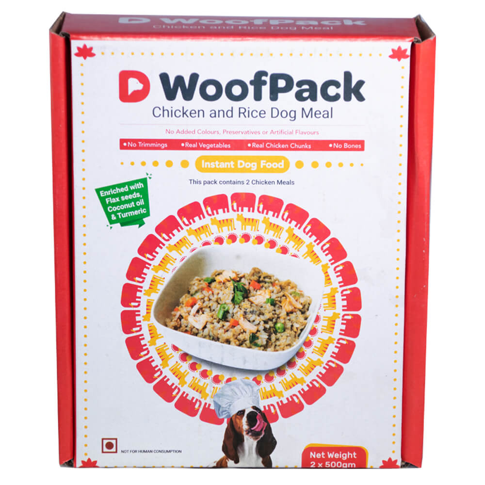 D WoofPack Chicken & Rice Dog Meal