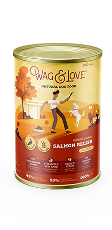 Wag and Love SALMON RELISH ALL AGES & BREEDS - SALMON, MANGO & BASIL - Barks and Licks