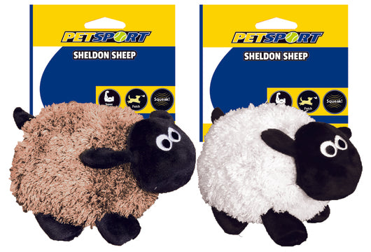 Petsport Sheldon Sheep Assorted Plush Toy - Barks and Licks