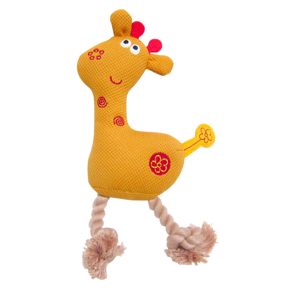 Jungle Plush Giraffe Toy - barksnlicks