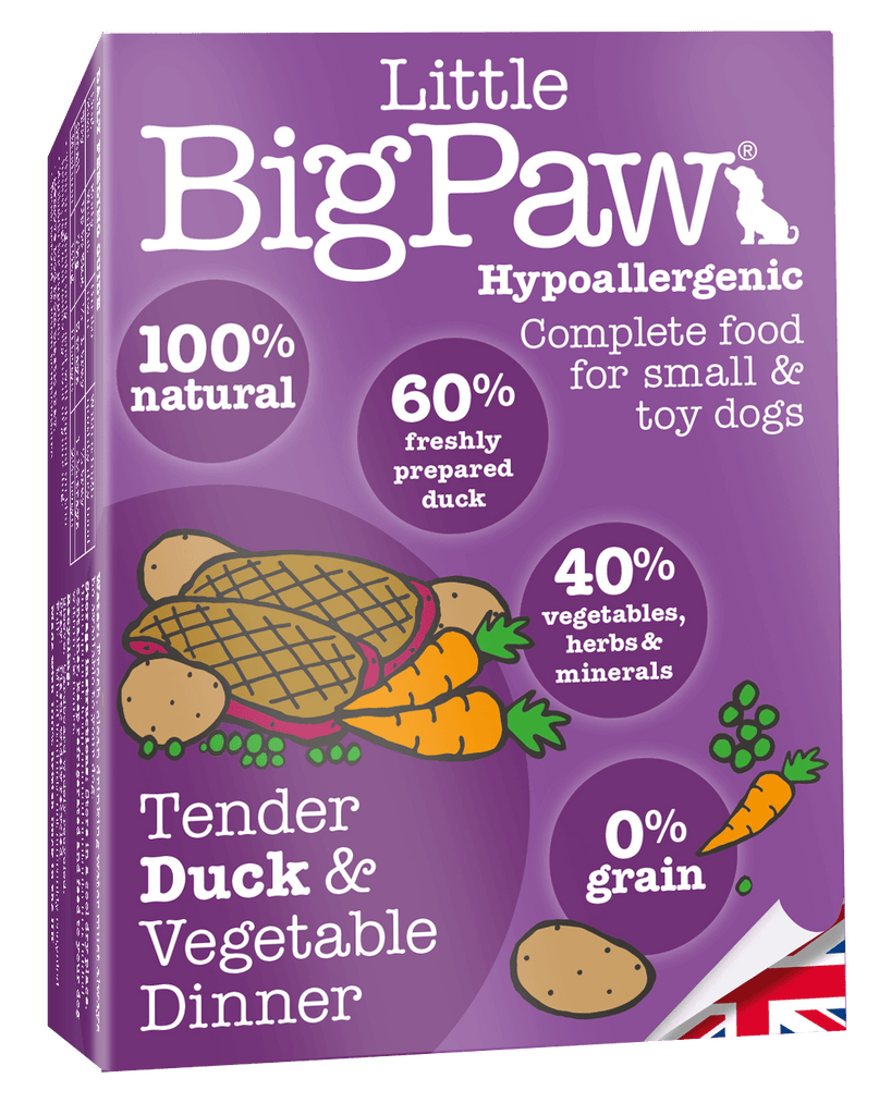 Little Big Paw Tender Duck & Vegetable Dinner - Barks and Licks
