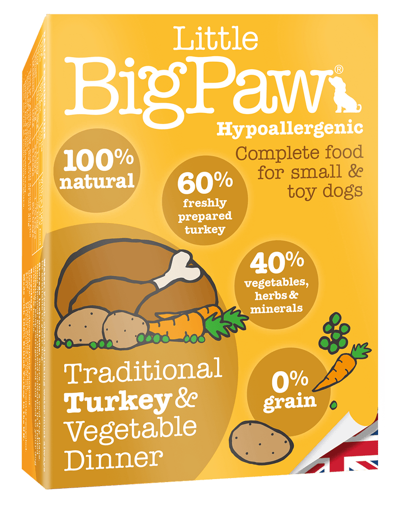 Little Big Paw Traditional Turkey & Vegetable Dinner - Barks and Licks