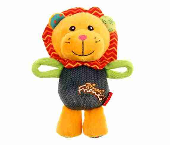 GiGwi Plush Friendz Lion (with REFILLABLE Squeaker)