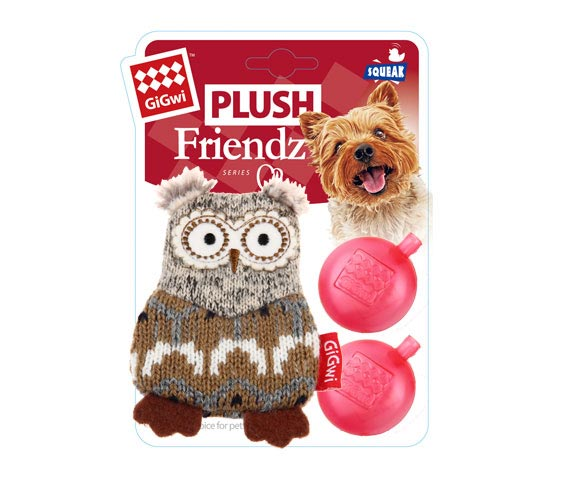 Gigwi PLUSH FRIENDZ Owl - Barks and Licks