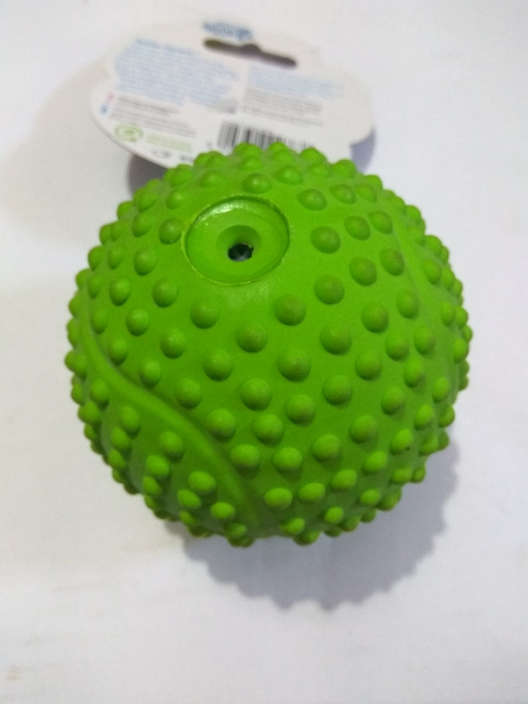 Pet Brands Rubba Squeak Tennis Ball - barksnlicks