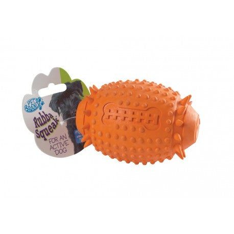 Pet Brands Rubba Rugby Ball - Barks and Licks