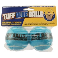 Petsport Tuff Blue Balls Dog Toy, 2 Ball Pack - Barks and Licks