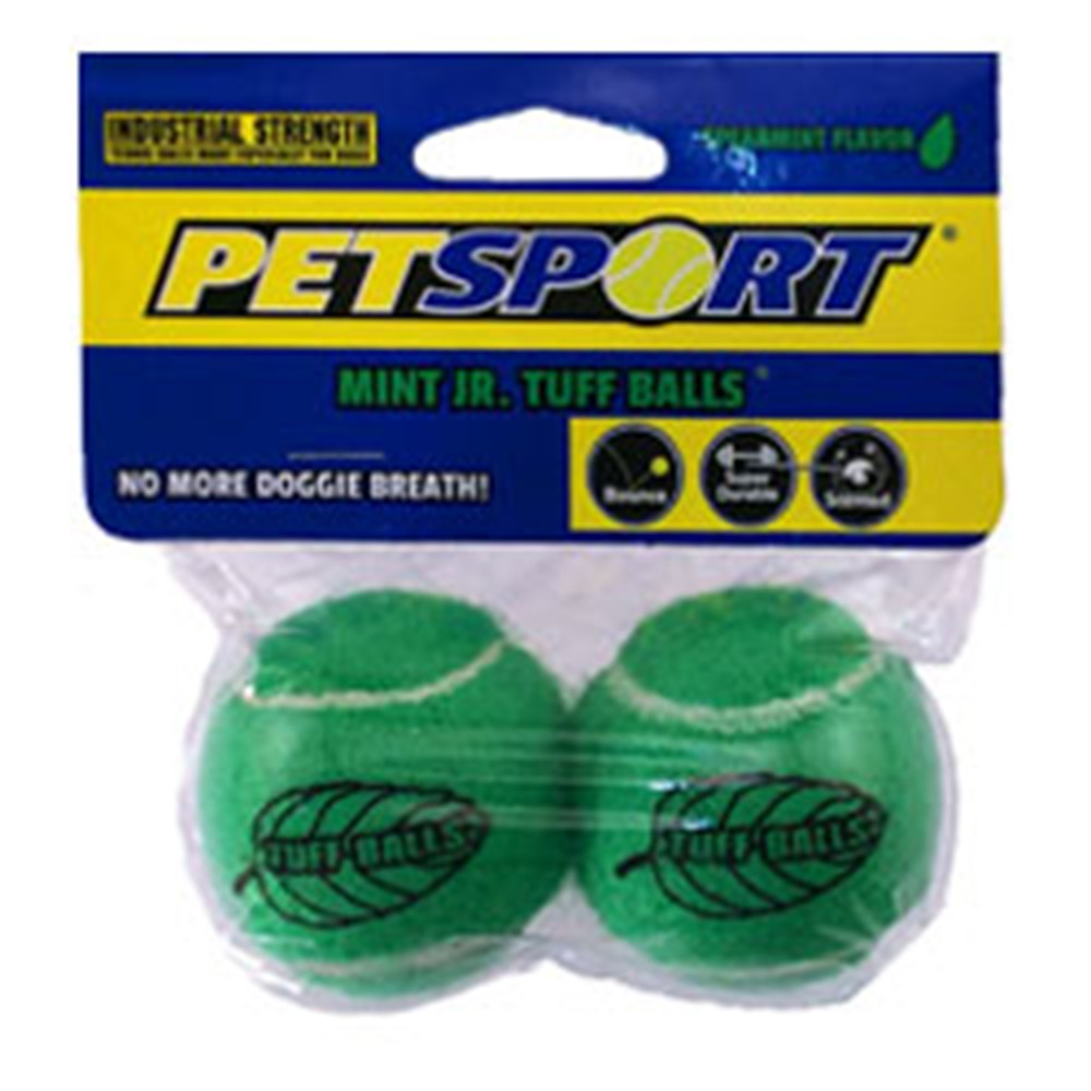 PETSPORT Tuff Mint Balls Dog Toy - 2 Pack - Barks and Licks