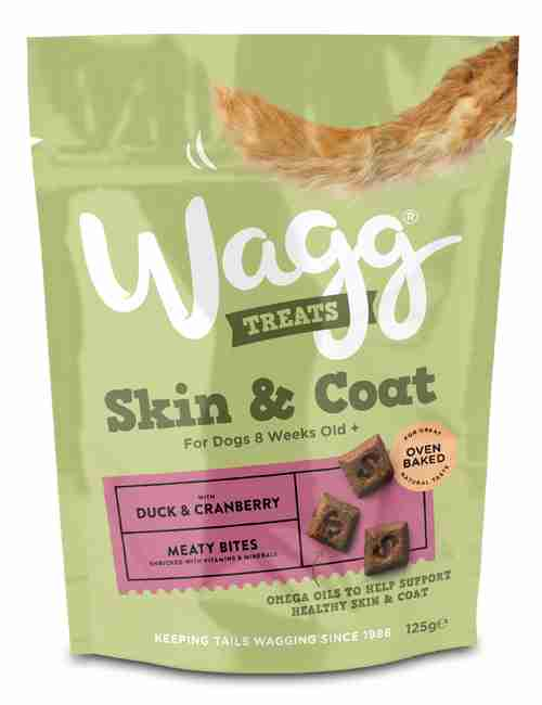 Wagg Skin & Coat Dog Treats with Duck & Cranberry