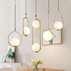 Pendant Lights Vintage Hoop Gold Living Room Decor - Home Decorers