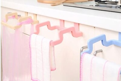 Hanging Trash Rubbish Bag Holder Papelera Garbage Rack Cupboard Cabinet Storage Rag Hanger