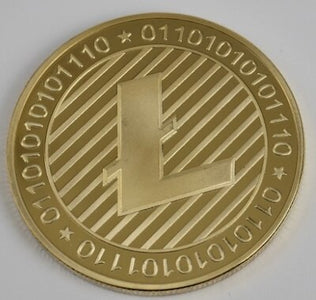 24K Gold Plated Litecoin Coin For Souvenir
