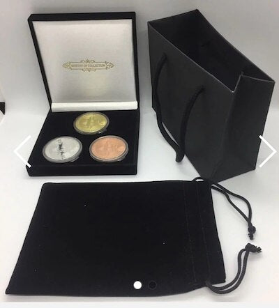 3 coin giftset - Box Pouch and Giftbag (without coins)