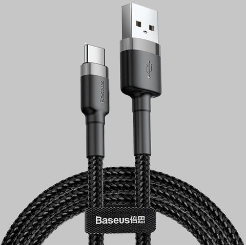 Image of Baseus Cafule Type C QC3.0 3A Quick Charge Cable Samsung S9 Note9 HUAWEI OPPO XIAOMI - JStore SG