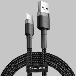 Baseus Cafule Type C QC3.0 3A Quick Charge Cable Samsung S9 Note9 HUAWEI OPPO XIAOMI - JStore SG
