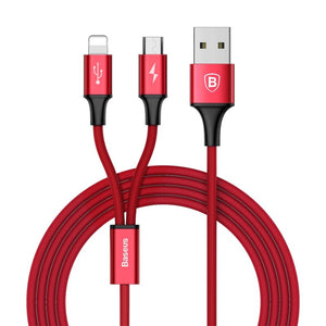 Baseus Rapid Series 2-in-1 Cable Micro/Lightning 3A 1.2M Type-C - Micro/Lightning