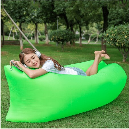 Outdoor air bed lazy sofa inflatable airbed air mattress camping mat - JStore SG