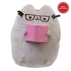 Pusheen Holding & Reading a Book with Spec