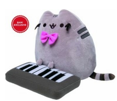 BAM! Exclusive Pusheen Plush with Keyboard & Bow
