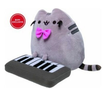 BAM! Exclusive Pusheen Plush with Keyboard & Bow - JStore SG