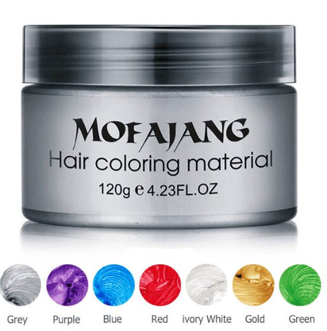 Image of Color Hair Wax Styling Pomade Silver Grandma Grey Temporary Hair Dye Disposable Fashion Molding Coloring Mud Cream - JStore SG