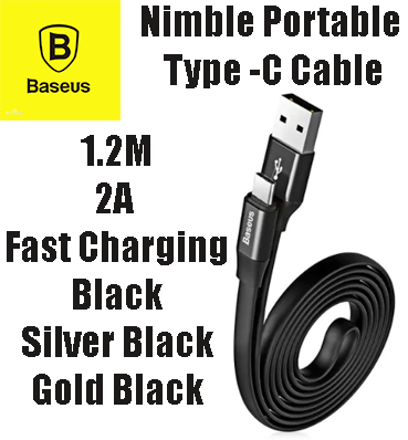 Image of Baseus Nimble Portable Cable For Type-C - 1.2M - 2A