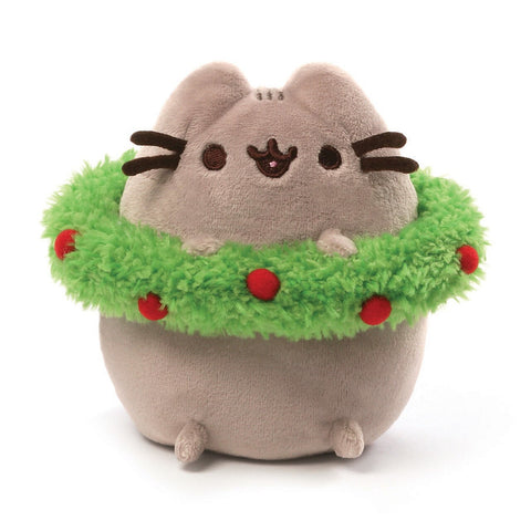Gund Pusheen Christmas Wreath 4.5 Inches