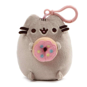 Gund Pusheen Snackable Backpack Clip Donut 5 Inches - JStore SG