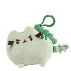 GUND Pusheen The Cat Pusheenosaurus Dinosaur Dino Mint Plush Doll Figure Backpack Clip, Green, 4.5""