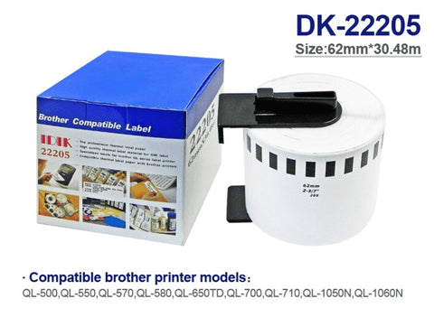 Image of Compatible Brother Tape with QL-700/QL-800 Labels