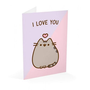 Pusheen Greeting Card Valentine's Day I Love You