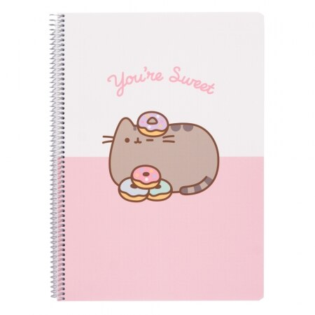 Image of Pusheen You're Sweet Notebook Polypropylene Cover A4 4X4 Rose Collection