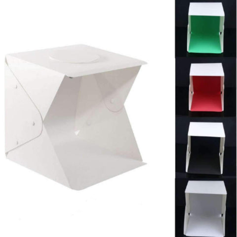 Image of Portable LED Lightbox Light Tent Foldable Photography Studio Softbox Light box (40x40cm) - With 4 different colour backdrop