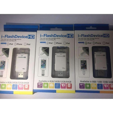 I Flash Device Memory Stick HD (16GB, 32GB, 64GB) for iPhone, ipad, mac, pc - JStore SG