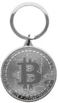 Image of Bitcoin Keychain Gold Plated Bitcoin Coin Key Accessories BTC Coin Art Collection