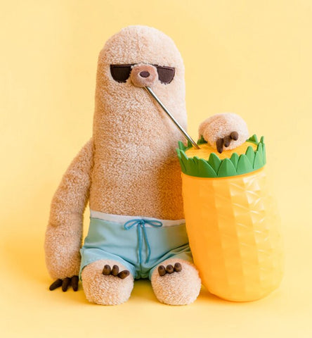 Image of Gund Pusheen Summer Sloth with Shorts 12 Inches