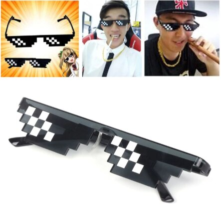 Thug Life Glasses 8 Bit Pixel - Deal With IT - Like a Boss - Shade Unisex Sunglasses - JStore SG