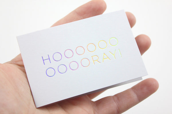 Hooray – Mini Klappkarte