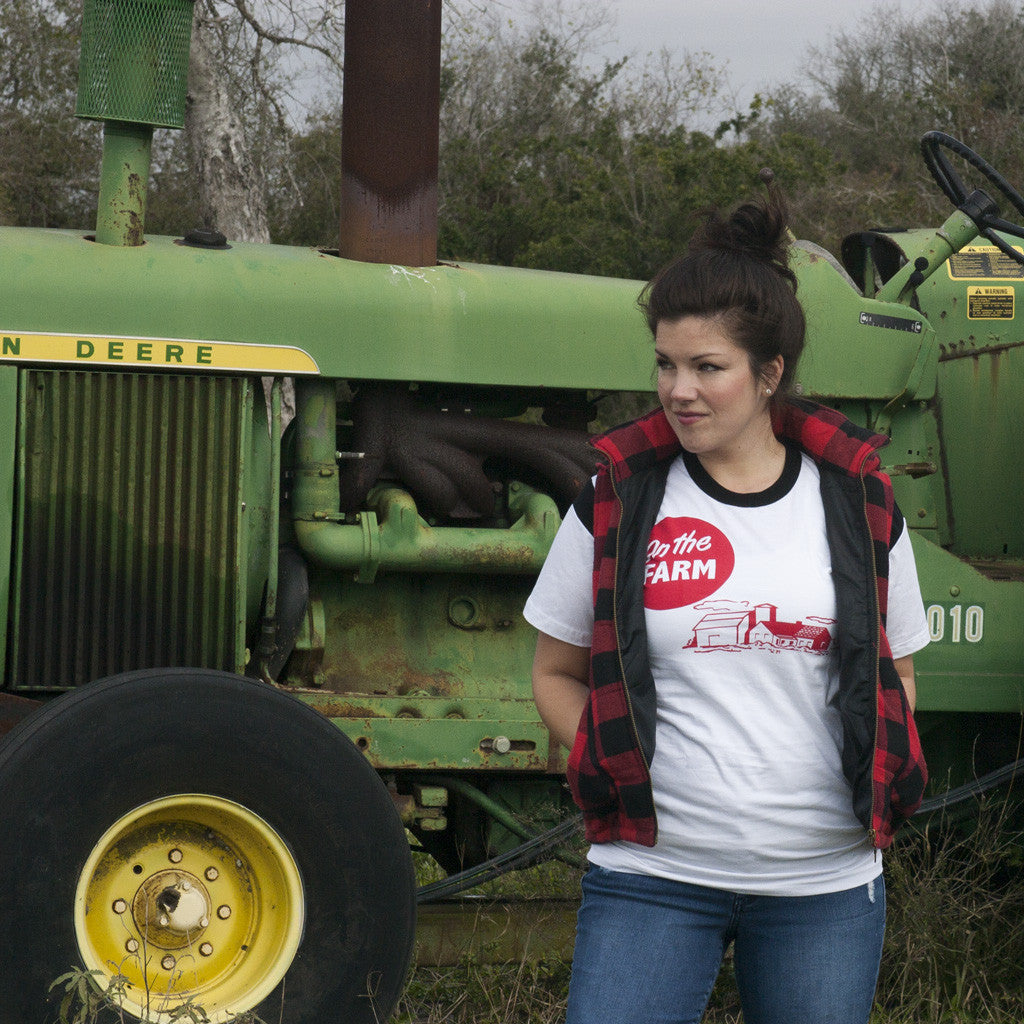 on the farm unisex 100% jersey cotton