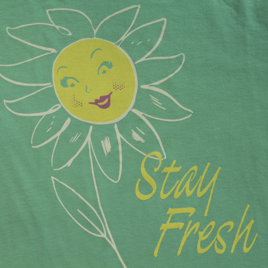 Stay Fresh text and flower