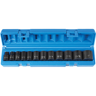 GREY PNEUMATIC 3//8/'/' Dr 6Pt Metric Semi�Deep Set 13Pc 1213MSD