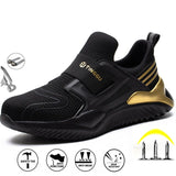 New Men's Steel Toe Cap Protective Work Shoes Outdoor Anti Smashing Shoes Men Puncture Proof Safety Shoes Sneakers Drop Shipping