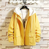 Streetwear men's jacket coat 2021 spring casual male jacket hooded windbreaker bomber man coats fashion women jackets
