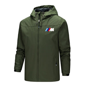 2021 new BMW M Power fashion jacket men's windproof hiking jacket outdoor mountain hiking winter hiking jacket men S-5XL