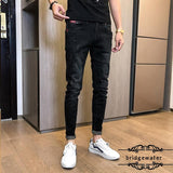 Bridgewater Skinny Jeans Men's Spring New Brand Ankle-Length Pants Tight Pants Casual Men's All-Match Fashion Oversize