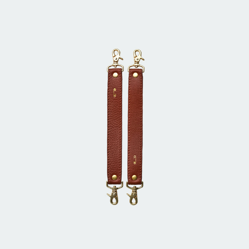 Leather Stroller Straps Tan