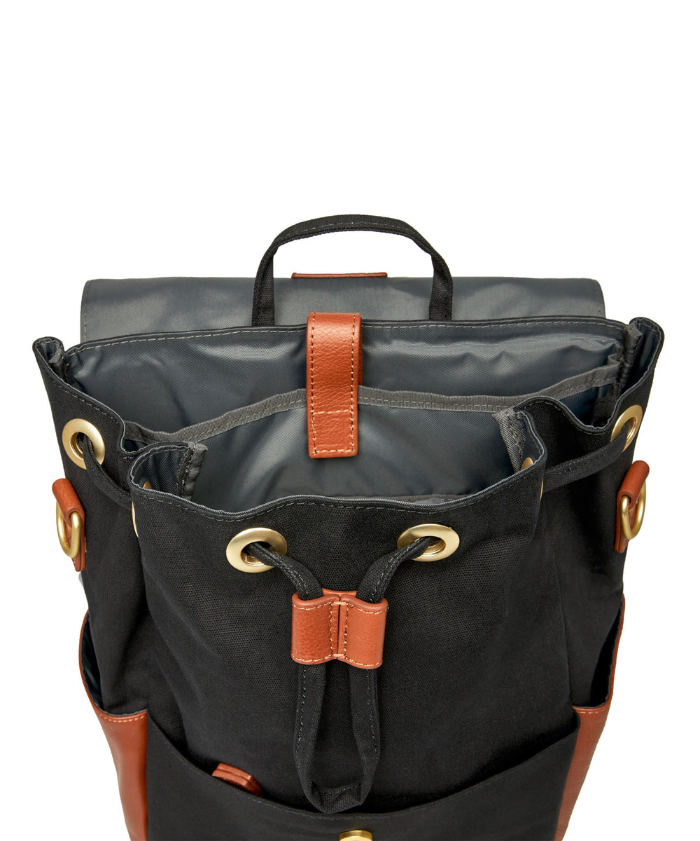 Julien Leather Backpack Black & Tan