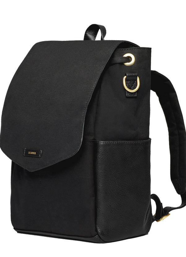 Julien Leather Backpack Black