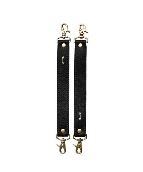 Leather Stroller Straps Black