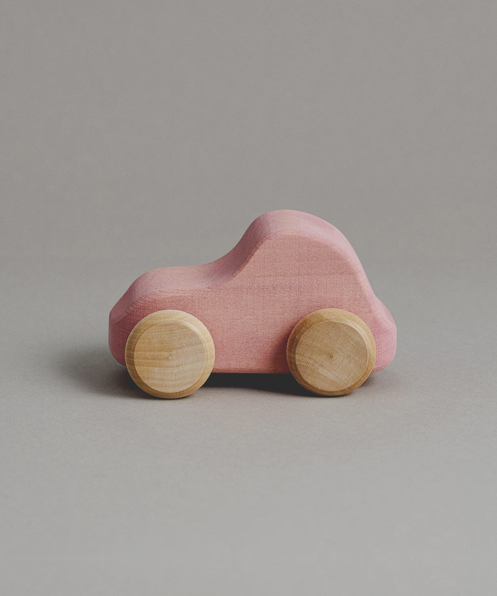 Wooden Car in Pink